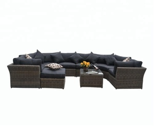 Wholesale Price Luxury Outdoor Wicker Garden Furniture Rattan Sofa Sets