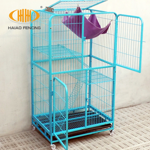 New brand with new design factory direct sale welded wire mesh handmade cat cage hot sale