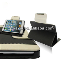 Card holder wallet case for ipad mini with top quality