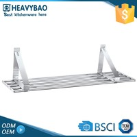 Heavybao Best Quality Hanging Clothes Brackets Metal Wall Plate Rack For Shelves