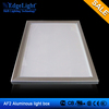 AF2 aluminium photo frame battery powered slim led light box