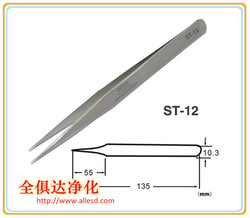 Electrical Cleanroom Stainless Steel Precision Tweezers