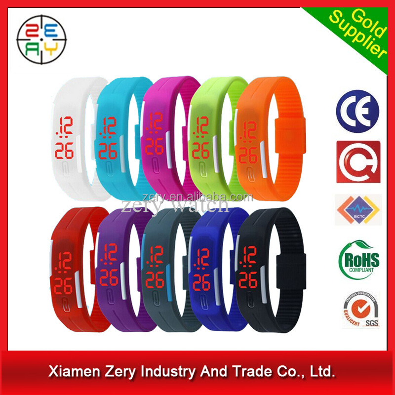 R0775 New arrival led watch popular silicone rubber wristband watches
