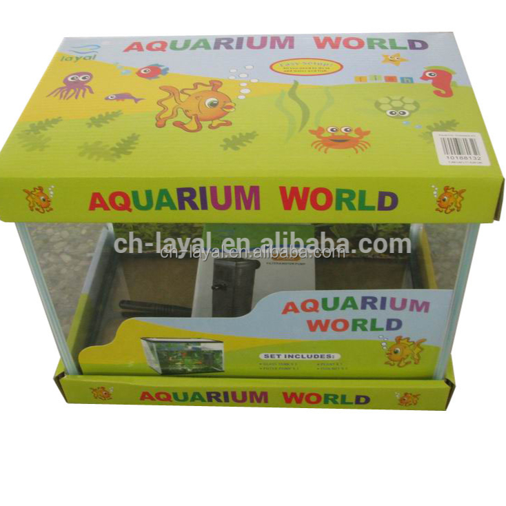 2016 Wholesale mini square aquarium salt <strong>fish</strong> tank CE, SAA,UL