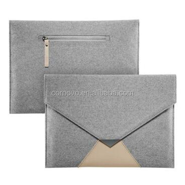 17 inch Wool Felt Inner Notebook Laptop Carry Bag For ipad