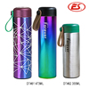 Custom new style non-toxic bpa free stainless steel thermos mug with leather handle