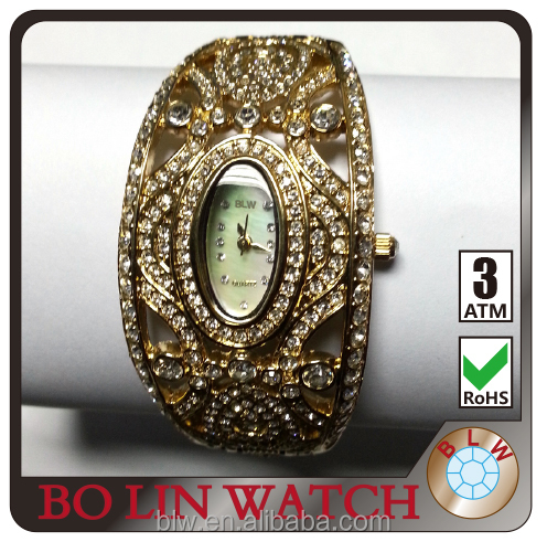 ladies fashion wristwatch CNC diamond watch japan movement with high quality