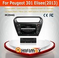HIFIMAX Android 4.4.4 car dvd player for Peugeot 301 Elisee WITH Capacitive screen 1080P 16G ROM WIFI 3G INTERNET DVR SUPPORT