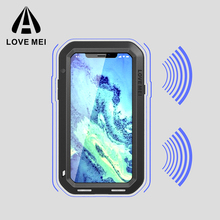 Hot sell 2017 LOVE MEI Compatible for Apple iPhone Brand Mobile Phone Cases & Bags, mobile phone shell for iPhone X case