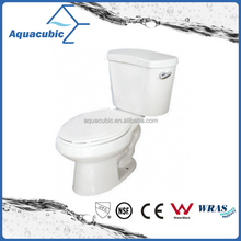 Two-Piece Single Flush Toilet in white with soft-closing seat