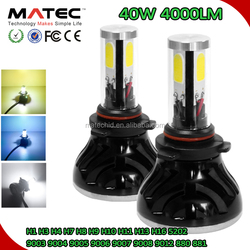 LED Bulb Factory MATEC, 40W 4000LM 3000K 6000K 8000K LED Conversion Kits 9006 H4 H7 H11 HB3