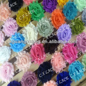 New Headband Chiffon Shabby Flowers Wholesale