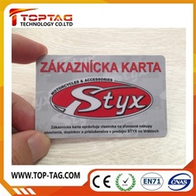 2015 Hot Sell PVC Classic 1K Nfc Business Smart Card/ Smart Rfid Card
