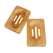 bamboo 3 holes slotted soap holder