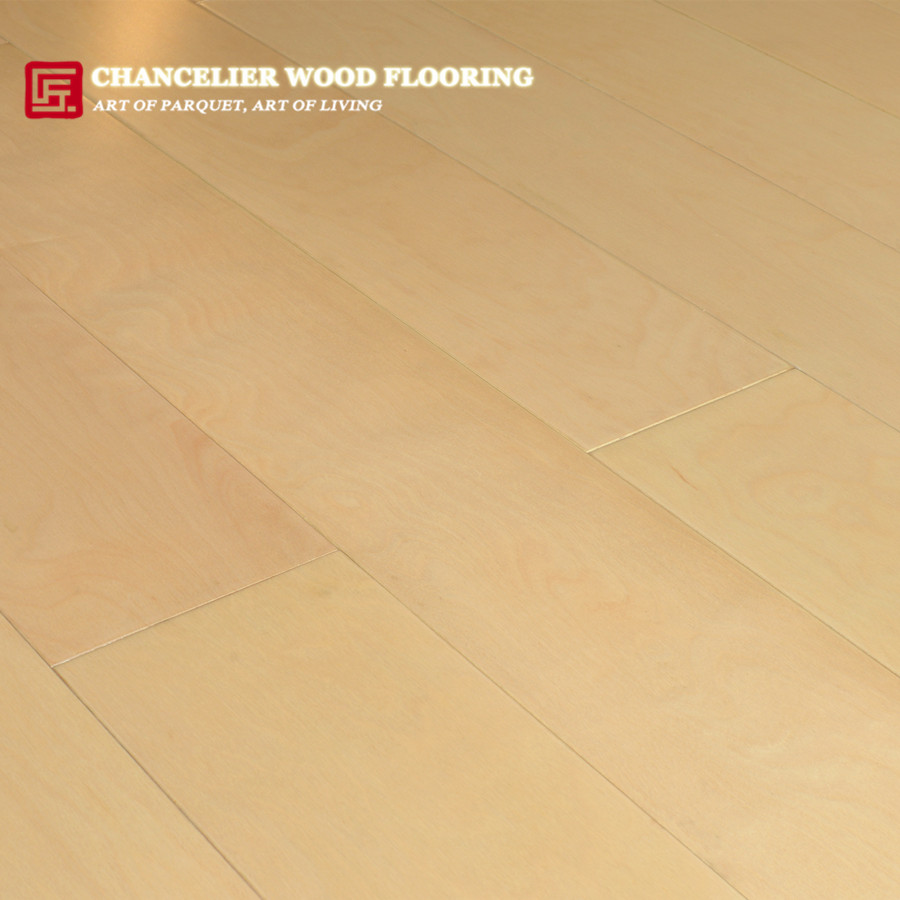 Prefinished Natural White Maple Parquet Wood Flooring