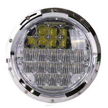 "7"" Halo LED Headlight with DRL Angel Eyes for Hummer H1 H2 Led 75W 5D H4 Headlights For Jeep Wrangler"