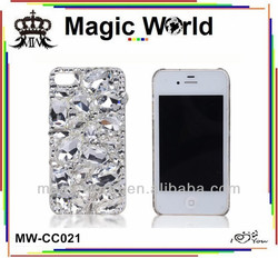 CRYSTAL DIAMOND GAM RHINESTONE BLING BLING PHONE SHELL CASE COVER FOR IPHONE 4 4S