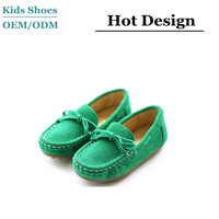 China Manufacture Designer Girl Flat Shoes Suede Girl Loafer Shoes