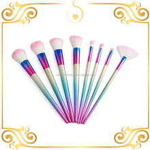 new fashion professional 8 pcs romantic changing color makeup brush