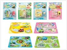 Puzzle With Wind Up Car For Children