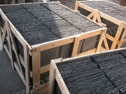 Natural slate roofing covering