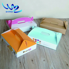 paper packaging take away lunch box_paper folding lunch box_Disposable food container biodegradable packaging paper boxes