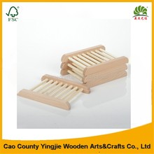 Creative Square wood made soap dish holder for bathroom