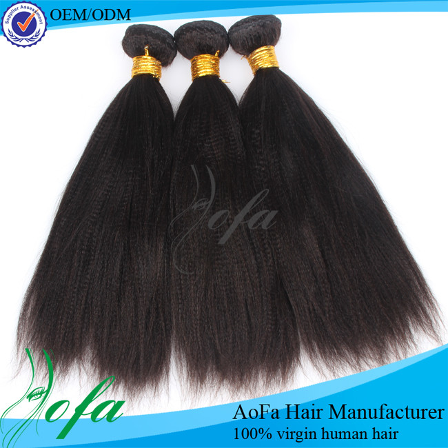 Large Stock!Free Sample&Long Lasting&Fast Shipping Virgin Peruvian yaki Hair Weave / Extensions for Black women