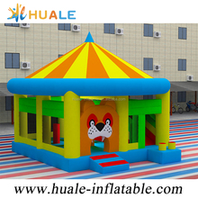 Huale Hot sale 6x5.5x5.5m inflatable circus combo infltable jumping tent with factory price