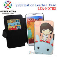 Sublimation Leather Mobile Phone Case for samsung galaxy note 3