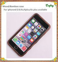 For Iphone 6 and iphone 6 Plus Wood Craft Phone Cover, High Quality Wooden Mobile Phone Case For Iphone 6