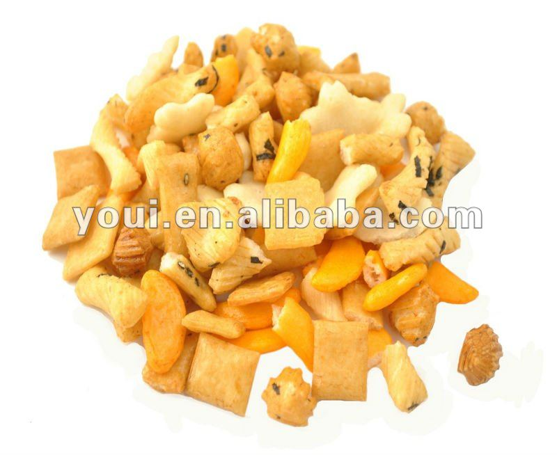 Various Candied and Crispy Rice Crackers