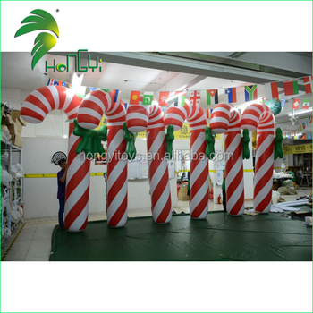 Custom Christmas Inflatable Candy Cane Model for Outdoor