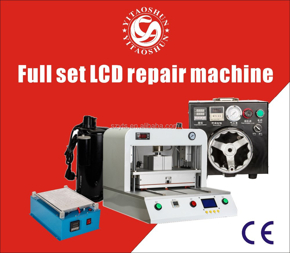 Full Set LCD repair Machine OCA lamination machine for broken mobile phone touch screen Refurbishing from Start to end