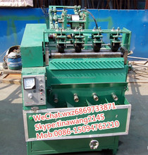Low noise stainless steel scrubber making machine/galvanized wire scourer machine