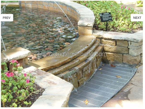 steel grating for fountain walkway/ trench cover