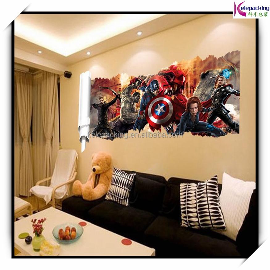 Popular super hero wall decal gift movie character - Poster decoratif mural ...