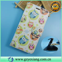 Owl Design Skin Leather Wallet Custom Case Cover For Moto G 3d Protective