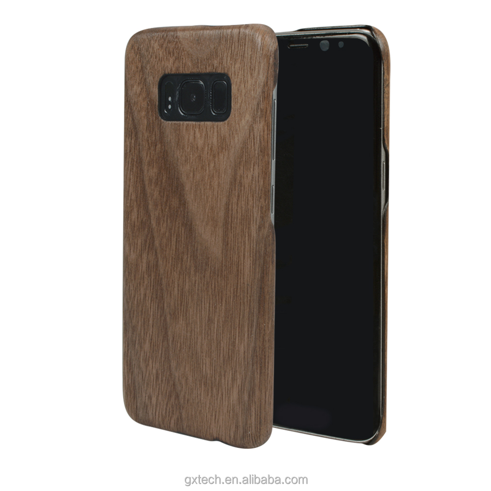 Simple luxury phone case wooden phone cover for samsung galaxy s8 shipping case