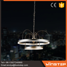 2017 wholesale 3000K aluminum acrylic lighting chandelier pendant lamp