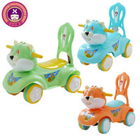 4 Wheels Plastic Material Ride On Car Rabbit Shaped Top 10 Tiny Toy
