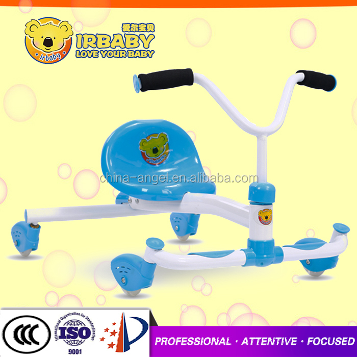 China factory children sport car wear-resisting PU wheel kids swing car