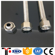 Stainless steel braided corrugated flexible metal gas connection hose
