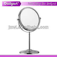 Decorative Metal Round Chrome antique desk mirror