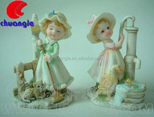 Custom Resinic Baby Angel Figurines Sculpture, Cute Child Statue