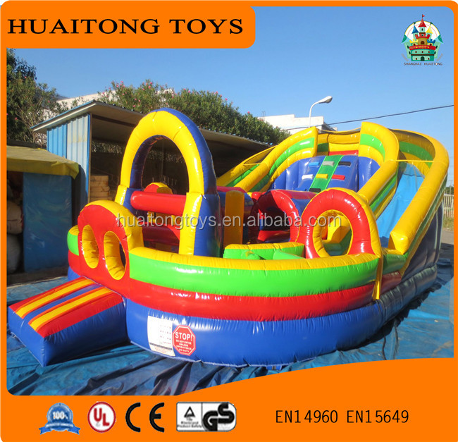Outdoor inflatable bouncer with free EN14960 certificate/ best price for kids inflatable obstacle course playground