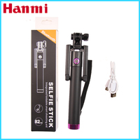 New Cable Take Pole Wireless bluetooth Selfie Stick W/ Remote Shutter Function For iphone Mobile Phone