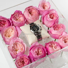 Factory Made Jewelery Gift Boxes For Flowers Plexiglass Flower Box