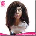 wholesale uk virgin brazilian hair afro kinky curly half wig