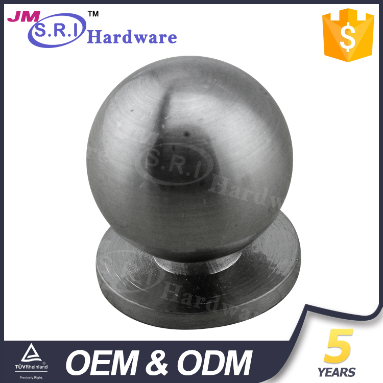 Modern style aluminum round door knob for furniture cabinet